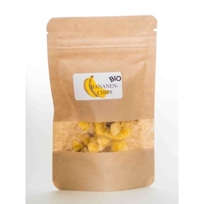 Bananenchips in Verpackung