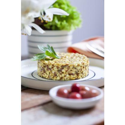 Curry Reis Mix auf Teller garniert