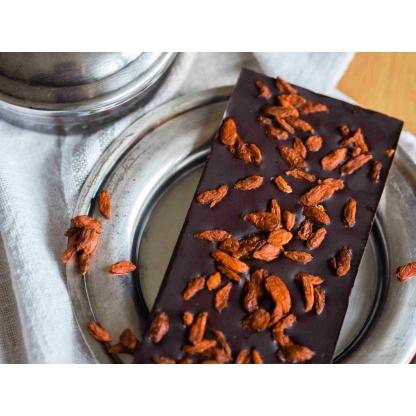 Schokolade mit Gojibeeren