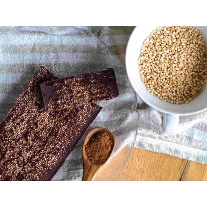 Schokolade mit Amaranth von oben